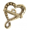 Toggle Fancy Heart 26mm Antique Gold Lead & Nickel Free